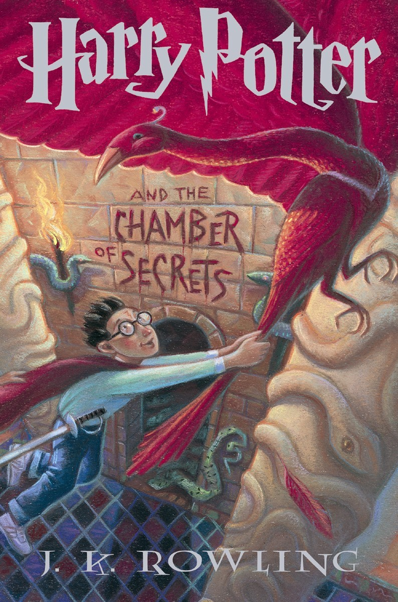 The J. K. Rowling Harry Potter And The Chamber Of Secrets book cover.
