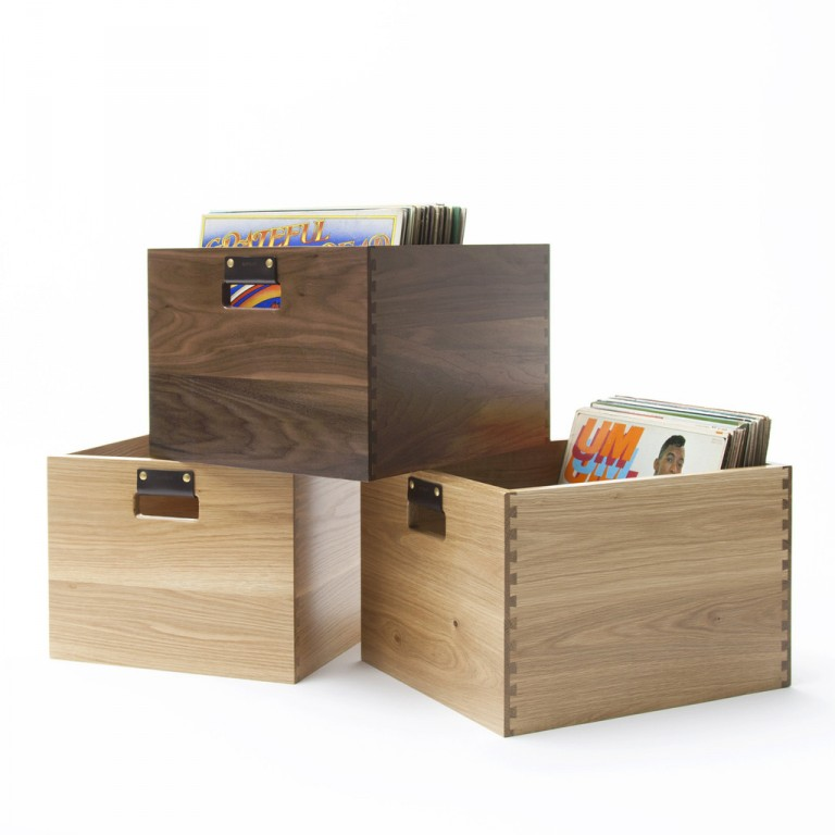 Genial Dovetail Vinyl Record Storage Crate