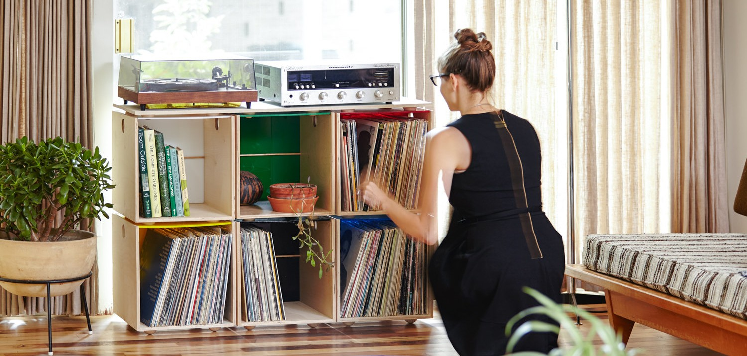 Charmant Stackable Vinyl Record Storage Cubes