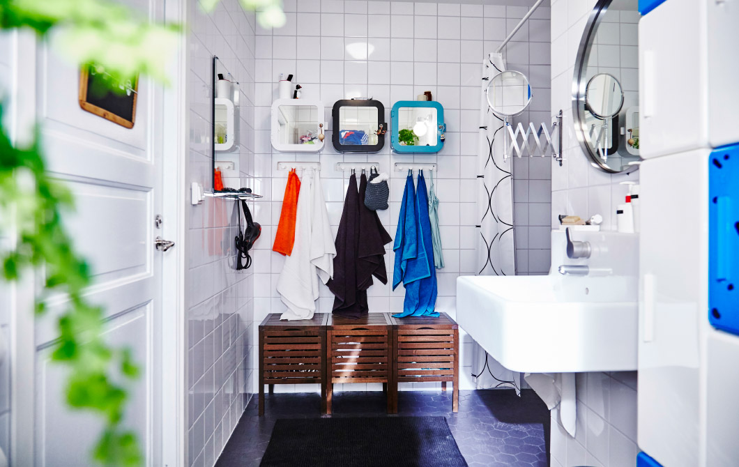 declutter your bathroom with gunnern cabinets from ikea