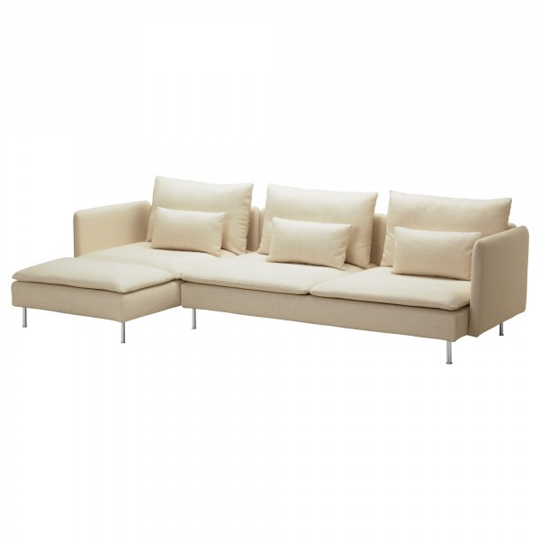 A Modular Isefall Natural SÖDERHAMN Sofa And Chaise From IKEA.