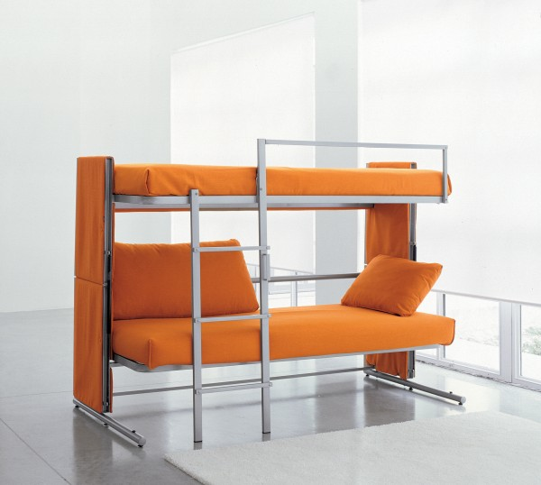 An open Doc Sofa Bunk Bed.