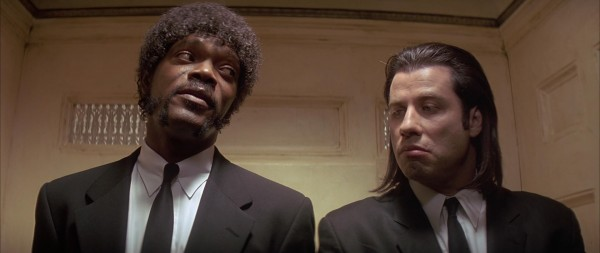 "samuel l jackson aka ""jules winnfield"" and john travolta aka ""vincent vega"" from pulp fiction"