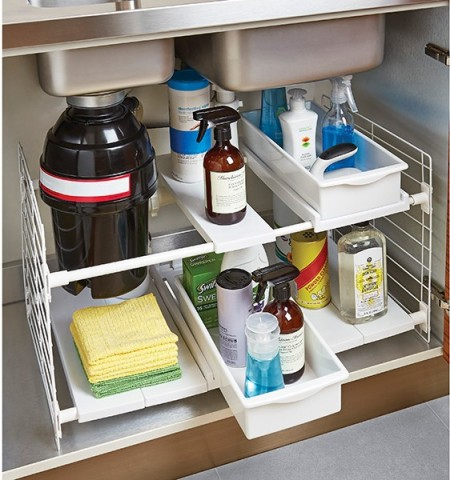 expandable undersink organizer from container store