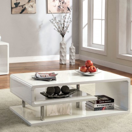 White Breean Coffee Table from Hokku Designs
