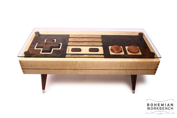 8-bit Retro Gaming Table from Bohemian Workbench on Etsy