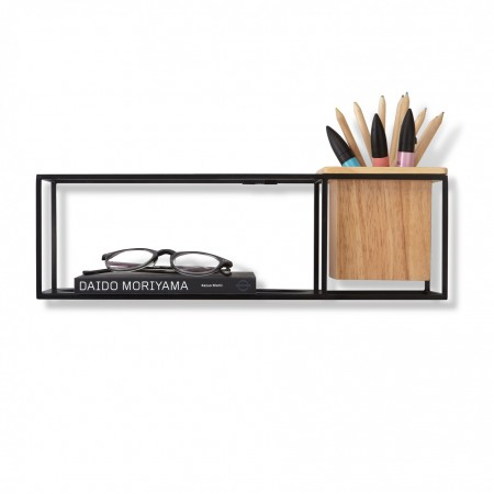 cubist wall display floating shelf by umbra