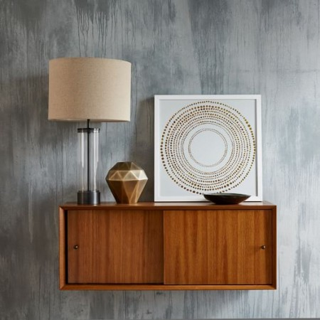 wall-mounted mid-century cabinet from west elm