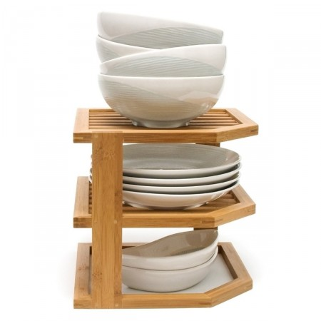 bamboo 3-tier corner shelf by lipper international