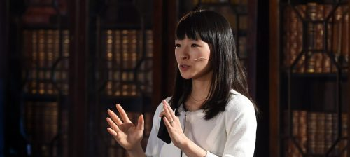 Marie Kondo - KonMari Method inventor, decluttering expert, and professional organizer - speaks at Web Summit 2015 in Dublin, Ireland.