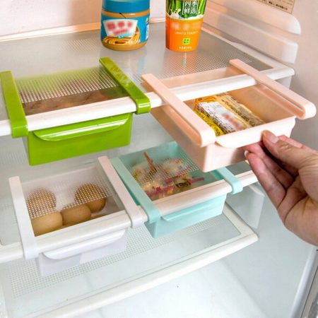 cute fridge storage solution: tiny pull-out drawers