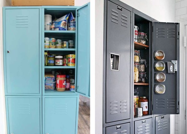 Cheap Kitchen Organization: School Lockers Turned Into Kitchen Pantries The  Shelving Store Blog