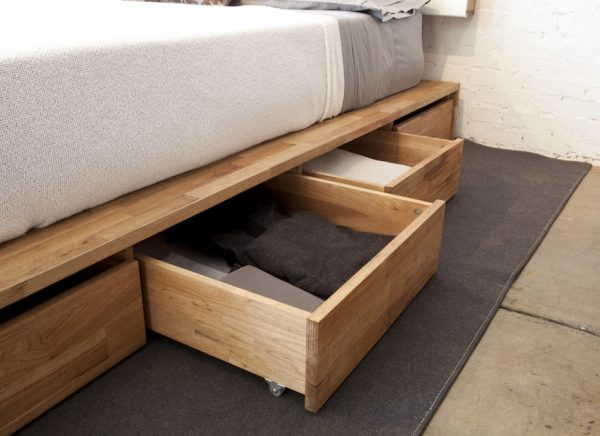 Buy A Bed Frame With Drawers.