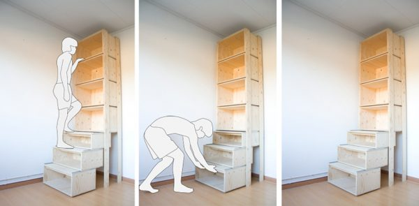 diy staircase/bookcase/ladder by danny kuo