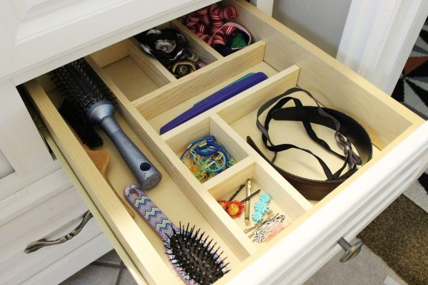 wooden diy drawer organizer