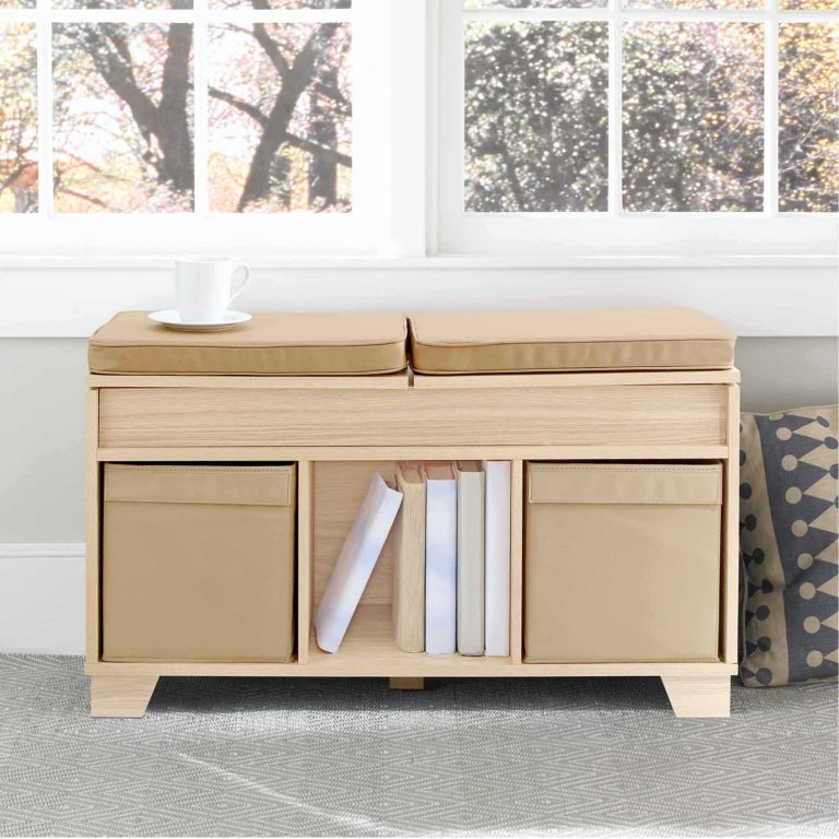 Real Simple 3 Cube Split Top Bench Storage Unit As A Bedroom Reading Nook
