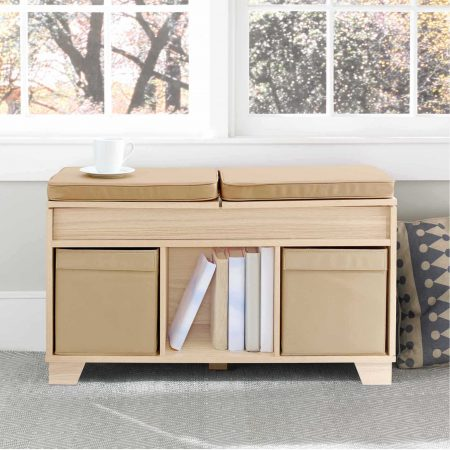 Real Simple 3 Cube Split Top Bench Storage Unit as a bedroom reading nook 53 Insanely Clever Bedroom Hacks And Solutions