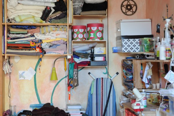 moving and packing tip: declutter garage storage shelves