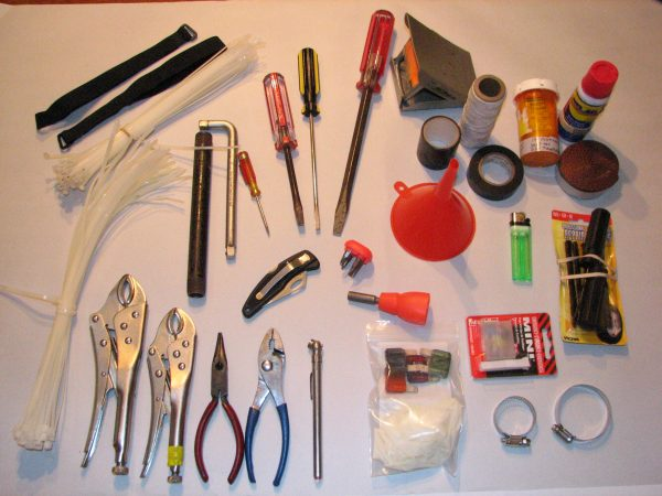 packing and moving supplies and tools organized neatly