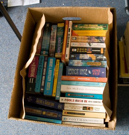 simple moving and packing tip: pack books in a small box