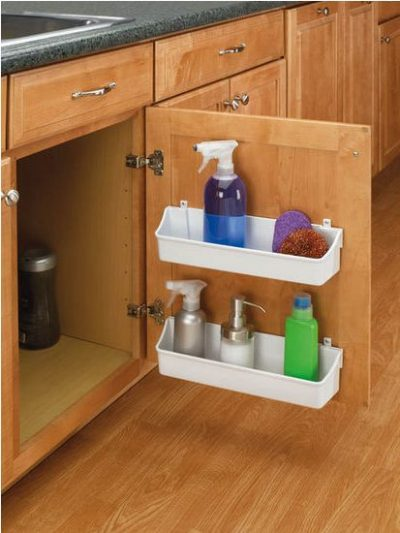 kitchen cabinet door storage racks by rev-a-shelf