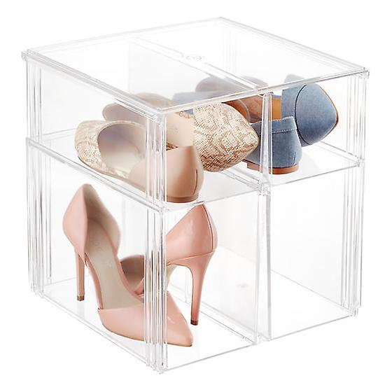Exceptionnel Stacking Shoe Bin Clear From The Container Store