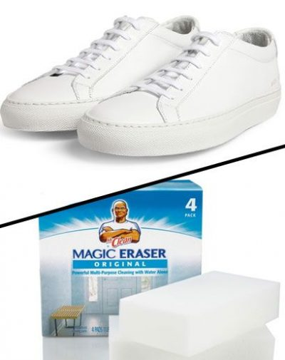 Mr Clean Magic Eraser White Shoes
