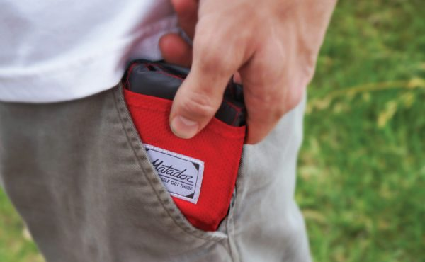 pack a minimal red matador pocket blanket so stay warm while hiking