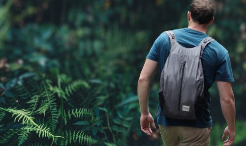 how to pack for hiking like a minimalist: pack everything into a waterproof matador freerain24 backpack