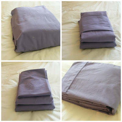 storing sheets in pillowcase