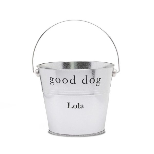 galvanized recycled steel good dog gift bucket by harry barker