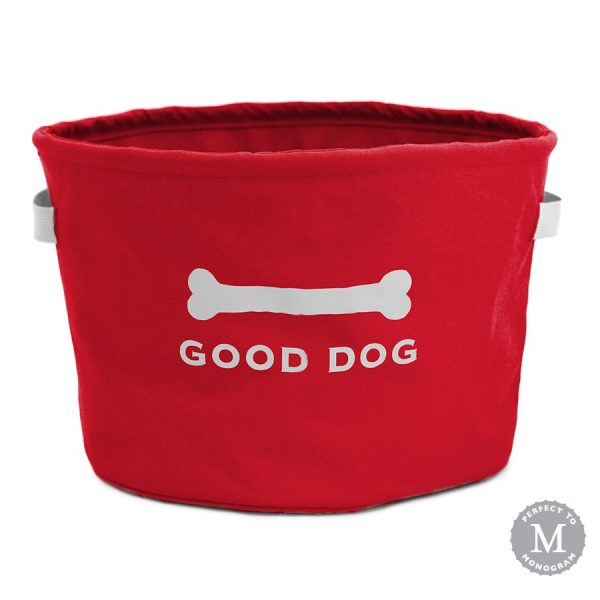 Red Eco Good Dog Toy Storage Bin