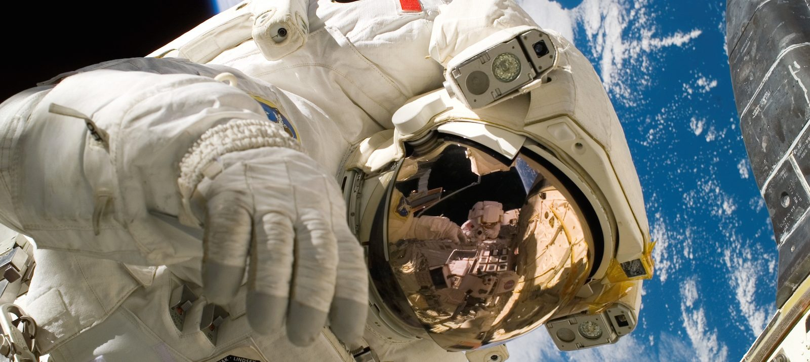 how to live in small spaces: channel your inner astronaut piers sellers spacewalk