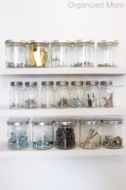 diy mason jar garage storage solution
