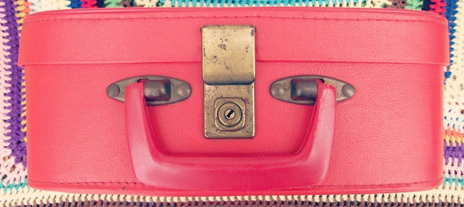 small red suitcase
