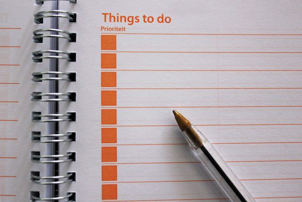 blank things to do list notebook
