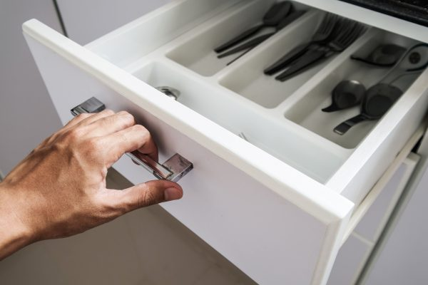 fix loose drawer handle with wood glue or fingernail polish