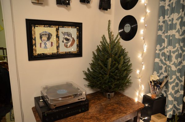 small christmas tree for small apartment