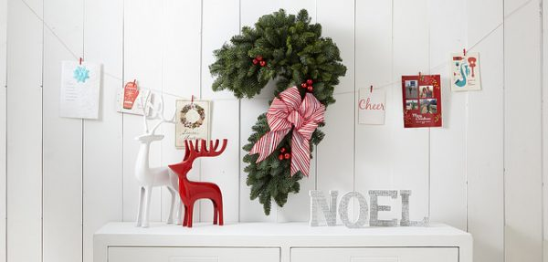 diy candy cane pine wreath