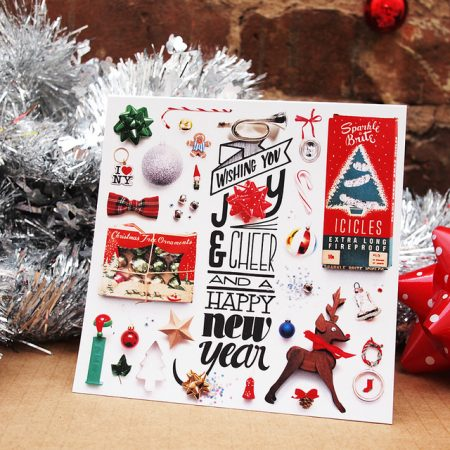 things organized neatly holiday cards