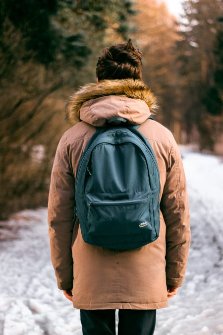 dress in layers (including a warm winter coat) when moving during the winter months