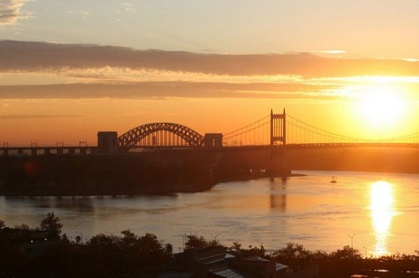 sunrise over the east river in nyc