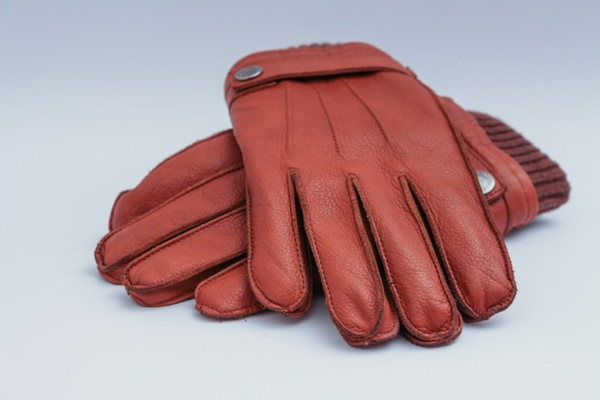 red leather mens gloves