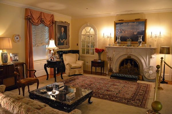 living room of president eisenhower national historic site in gettysburg, pa