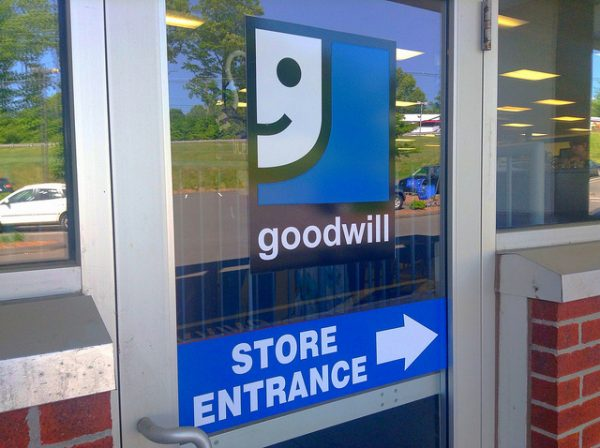 goodwill store door and sign