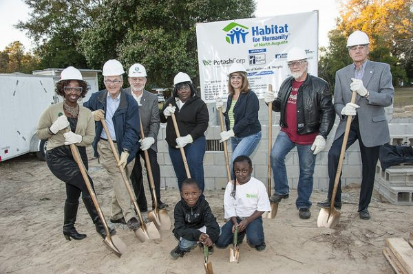 habitat for humanity ground breaking in north augusta, sc