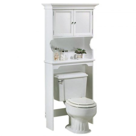 hampton bay over-the-toilet storage cabinet in white