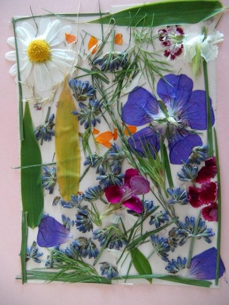 diy flower artwork