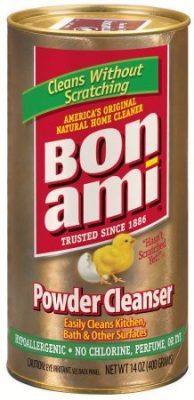 bon ami powder cleanser is hypoallergenic and does not contain chlorine, perfume, or dye