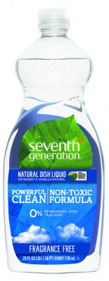 a bottle of seventh generation fragrance-free all-natural dish liquid